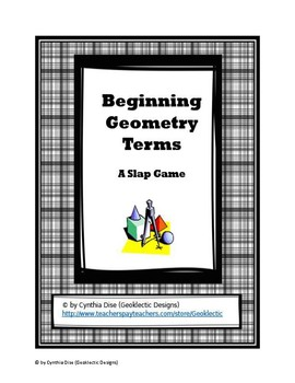 Beginning Geometry Terms: A Slap Game