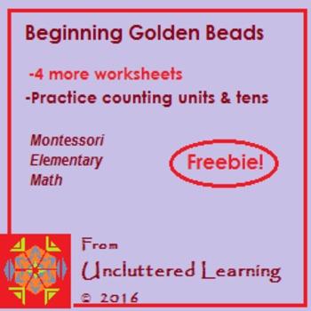 Freebie! Beginning Golden Beads 4 Worksheets