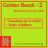 Golden Beads Booklet 2 from Uncluttered Learning