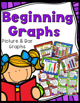 Beginning Graphs - Pictographs & Bar Graphs - 32 Task Cards