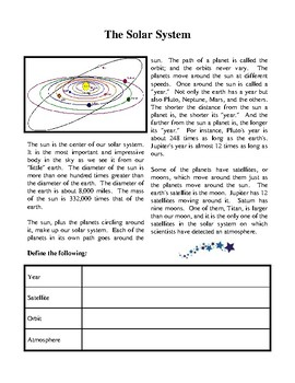 Beginning Guide to the Solar System - Activities and Worksheets