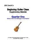 Beginning Guitar Class:  Quarter One-Notes on the First 3