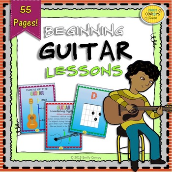 Beginning Guitar Lessons (Instructions, Guitar Chords, and Songs)