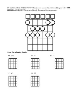 Beginning Guitar Unit Test #2