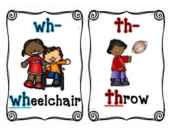 Beginning H Digraph Make a Word Task Cards