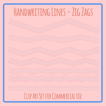 Beginning Handwriting Lines in Zig Zag for Creative Writing / Poetry Templates