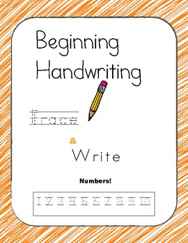 Beginning Handwriting: Numbers 1-10