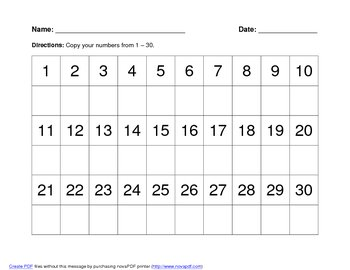Beginning Hundreds Chart