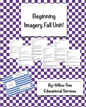 Beginning Imagery Lesson Plan Bundle Fall Book Focused!