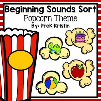 Beginning (Initial) Letter Sound Popcorn Sort
