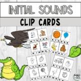 Beginning Initial Sounds & Letter Recognition Preschool Kindergarten Clip Cards