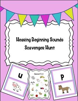 Phonemic Awareness: Beginning Sounds Scavenger Hunt!
