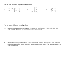 Beginning Integers & Absolute Value Quiz