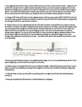 Beginning Jewelry Project #1: Cut & Pierce
