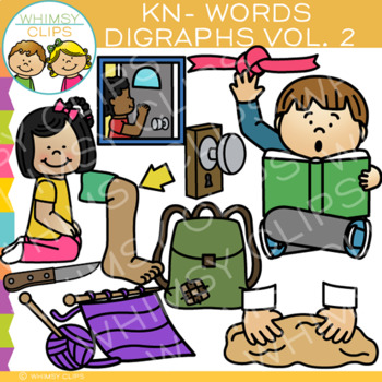 Digraphs Clip Art: Beginning KN Words Clip Art {Volume TWO}