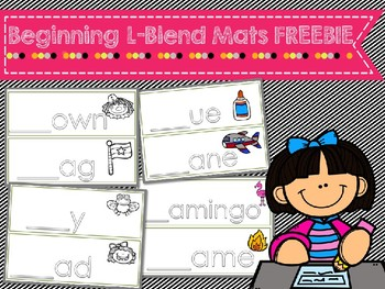Beginning L-Blend Word Work Mats