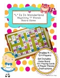 Consonant Blends - Beginning L Blends Board Game - L Is In Wonderland