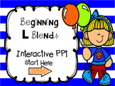 Beginning L Blends Interactive PPT and Recording Sheets