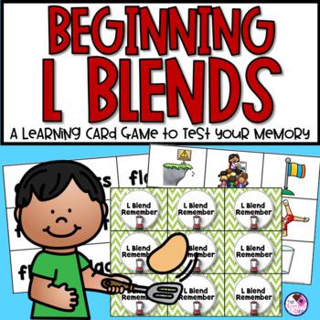 Beginning L Blends Memory Game