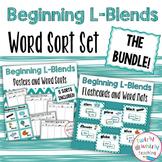 Beginning L Blends Word Sort Bundle