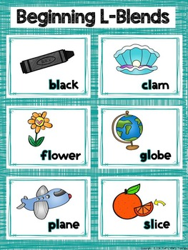 Beginning L Blends Word Sort Bundle
