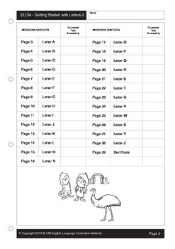 Beginning Letter Activity Sheets (29 pages)