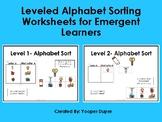 Beginning Letter Alphabet Worksheets for Emergent Learners