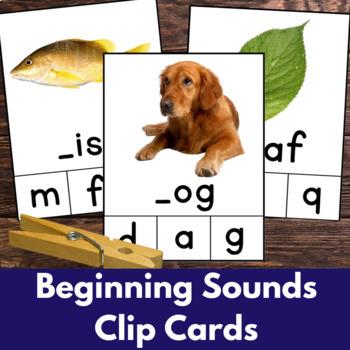 Beginning Letter Clip Cards