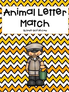 Beginning Letter-Match (Animal Version) File Folder Game