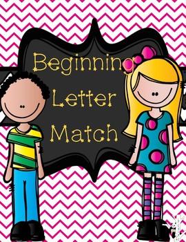 Beginning Letter Match-Up