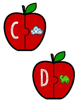 Apple Alphabet Matching Puzzles