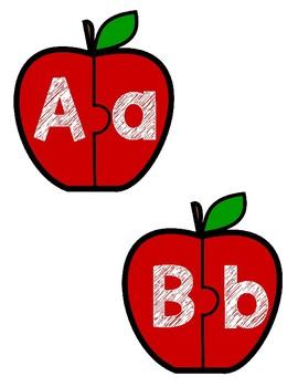 Apple Alphabet Matching Puzzles