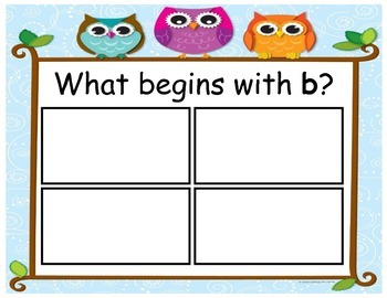 Beginning Letter Picture Match Game for RTI Intervention or Small Groups