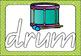 Beginning Letter Play Dough Mats - Queensland font