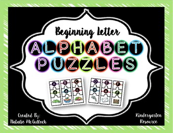 Beginning Letter Puzzles