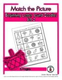 Beginning Letter Sound (2) - Print, Answer & Color Workshe