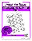 Beginning Letter Sound (3) - Print, Answer & Color Workshe