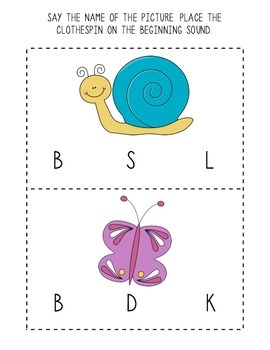 Beginning Letter Sound Activities