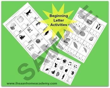 Beginning Letter Sound Activities