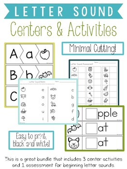 Beginning Letter Sound Activities Bundle