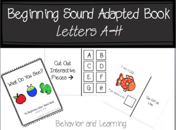 Beginning Letter Sound Adapted Book {A-H}- for students with Autism