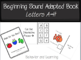 Beginning Letter Sound Adapted Book {A-H}- for students wi