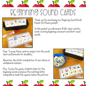 Beginning Letter Sound Cards