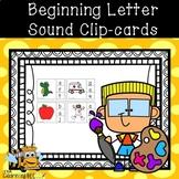 Beginning Letter Sound Clipcards for Preschool, PreK, and Kindergarten