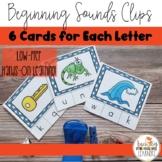 Low-Prep, Multi-sensory Beginning Letter Sound Clips