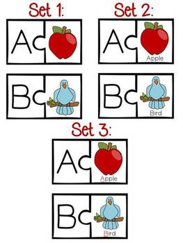 Beginning Letter Sound Differentiated Puzzle Sets