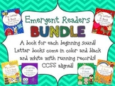 Beginning Letter Sound Emergent Reader BUNDLE w/R Records - CCSS Aligned