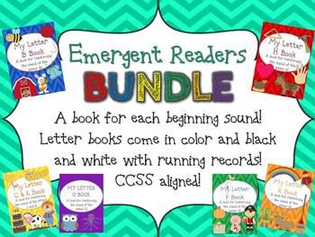 Beginning Letter Sound Emergent Reader BUNDLE w/R Records