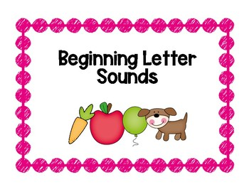 Beginning Letter Sound Match (bright colors)