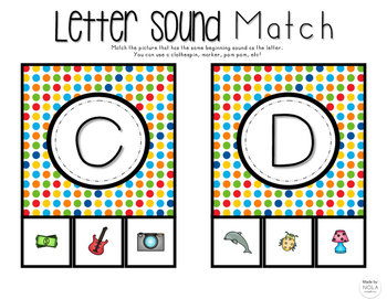 Beginning Letter Sound Matching Game